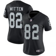 Wholesale Cheap Nike Raiders #82 Jason Witten Black Team Color Women's Stitched NFL Vapor Untouchable Limited Jersey