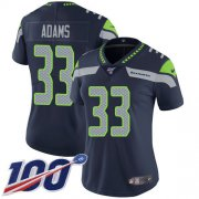 Wholesale Cheap Nike Seahawks #33 Jamal Adams Steel Blue Team Color Women's Stitched NFL 100th Season Vapor Untouchable Limited Jersey
