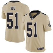 Wholesale Cheap Nike Saints #51 Cesar Ruiz Gold Youth Stitched NFL Limited Inverted Legend Jersey