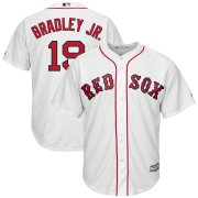 Wholesale Cheap Boston Red Sox #19 Jackie Bradley Jr. Majestic Home Official Cool Base Replica Player Jersey White