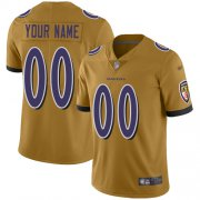 Wholesale Cheap Nike Baltimore Ravens Customized Gold Men's Stitched NFL Limited Inverted Legend Jersey
