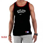 Wholesale Cheap Men's Nike Toronto Blue Jays Home Practice Tank Top Black