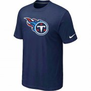 Wholesale Cheap Nike Tennessee Titans Sideline Legend Authentic Logo Dri-FIT NFL T-Shirt Midnight Blue