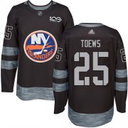 Wholesale Cheap Adidas Islanders #25 Devon Toews Black 1917-2017 100th Anniversary Stitched NHL Jersey