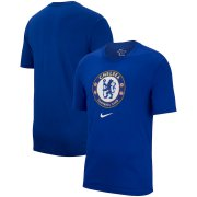 Wholesale Cheap Chelsea Nike Evergreen Crest T-Shirt Blue