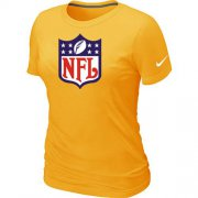 Wholesale Cheap Women's Nike NFL Logo NFL T-Shirt Yellow