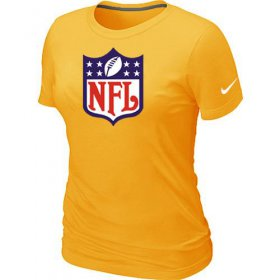 Wholesale Cheap Women\'s Nike NFL Logo NFL T-Shirt Yellow