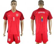 Wholesale Cheap USA #1 Howard Red Rainbow Soccer Country Jersey