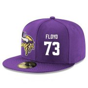 Wholesale Cheap Minnesota Vikings #73 Sharrif Floyd Snapback Cap NFL Player Purple with White Number Stitched Hat