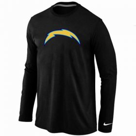 Wholesale Cheap Nike Los Angeles Chargers Logo Long Sleeve T-Shirt Black