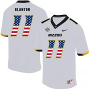 Wholesale Cheap Missouri Tigers 11 Kendall Blanton White USA Flag Nike College Football Jersey