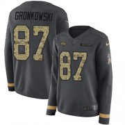 Wholesale Cheap Nike Buccaneers #87 Rob Gronkowski Anthracite Salute to Service Women's Stitched NFL Limited Therma Long Sleeve Jersey