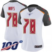 Wholesale Cheap Nike Buccaneers #78 Tristan Wirfs White Women's Stitched NFL 100th Season Vapor Untouchable Limited Jersey