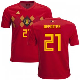 Wholesale Cheap Belgium #21 Depoitre Home Kid Soccer Country Jersey