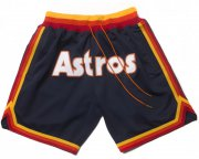 Wholesale Cheap Houston Astros Shorts (Navy) JUST DON By Mitchell & Ness