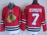 Wholesale Cheap Blackhawks #7 Tony Esposito Red CCM Throwback Stitched NHL Jersey