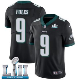Wholesale Cheap Nike Eagles #9 Nick Foles Black Alternate Super Bowl LII Youth Stitched NFL Vapor Untouchable Limited Jersey