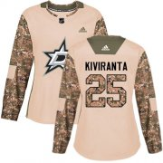 Cheap Adidas Stars #25 Joel Kiviranta Camo Authentic 2017 Veterans Day Women's Stitched NHL Jersey