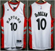 Wholesale Cheap Men's Toronto Raptors #10 Demar DeRozan Revolution 30 Swingman 2015-16 New White Jersey