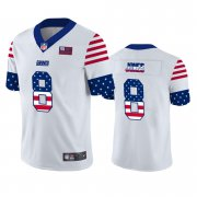 Wholesale Cheap New York Giants #8 Daniel Jones White Men's Nike Team Logo USA Flag Vapor Untouchable Limited NFL Jersey