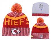 Wholesale Cheap NFL Kansas City Chiefs Logo Stitched Knit Beanies 010