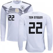 Wholesale Cheap Germany #22 Ter Stegen Home Long Sleeves Kid Soccer Country Jersey