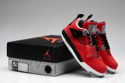 Wholesale Cheap WMS Jordan 4 Red Bull Shoes Red