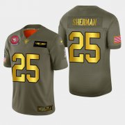 Wholesale Cheap Nike 49ers #25 Richard Sherman Men's Olive Gold 2019 Salute to Service NFL 100 Limited Jersey