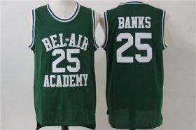 Wholesale Cheap Bel-Air Academy 25 Banks Green Stitched Basketball Jersey