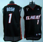 Wholesale Cheap Miami Heat #1 Chris Bosh Latin Nights Black Swingman Jersey