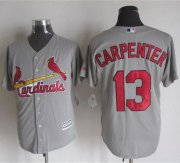 Wholesale Cheap Cardinals #13 Matt Carpenter Grey New Cool Base Stitched MLB Jersey