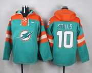 Wholesale Cheap Nike Dolphins #10 Kenny Stills Aqua Green Player Pullover NFL Hoodie