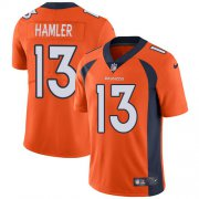 Wholesale Cheap Nike Broncos #13 KJ Hamler Orange Team Color Men's Stitched NFL Vapor Untouchable Limited Jersey