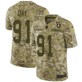 Wholesale Cheap Nike Colts #91 Sheldon Day Camo Men\'s Stitched NFL Limited 2018 Salute To Service Jersey