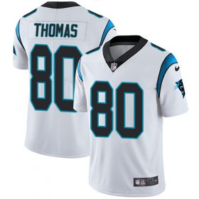 Wholesale Cheap Nike Panthers #80 Ian Thomas White Men\'s Stitched NFL Vapor Untouchable Limited Jersey