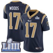 Wholesale Cheap Nike Rams #17 Robert Woods Navy Blue Team Color Super Bowl LIII Bound Youth Stitched NFL Vapor Untouchable Limited Jersey