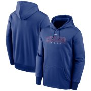Wholesale Cheap Chicago Cubs Nike Outline Wordmark Fleece Performance Pullover Hoodie Royal