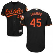 Wholesale Cheap Orioles #45 Mark Trumbo Black Flexbase Authentic Collection Stitched MLB Jersey