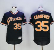 Wholesale Giants #35 Brandon Crawford Black Flexbase Authentic Collection Cooperstown Stitched Baseball Jersey