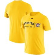 Wholesale Cheap Pittsburgh Pirates Nike MLB Practice T-Shirt Gold