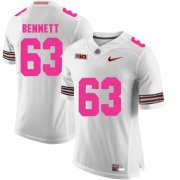 Wholesale Cheap Ohio State Buckeyes 63 Michael Bennett White 2018 Breast Cancer Awareness College Football Jersey