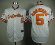 Wholesale Mitchell And Ness 1989 Orioles #5 Brooks Robinson White Throwback Stitched Baseball Jersey