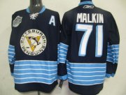 Wholesale Cheap Penguins #71 Evgeni Malkin Stitched Dark Blue 2011 Winter Classic Vintage NHL Jersey
