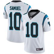Wholesale Cheap Nike Panthers #10 Curtis Samuel White Youth Stitched NFL Vapor Untouchable Limited Jersey