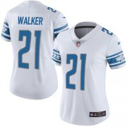 Wholesale Cheap Nike Lions #21 Tracy Walker White Women's Stitched NFL Vapor Untouchable Limited Jersey