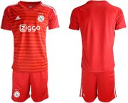 Wholesale Cheap Ajax Blank Red Goalkeeper Soccer Club Jersey