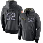 Wholesale Cheap NFL Men's Nike Baltimore Ravens #52 Ray Lewis Stitched Black Anthracite Salute to Service Player Performance Hoodie