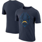 Wholesale Cheap Men's Los Angeles Chargers Nike Navy Fan Gear Icon Performance T-Shirt