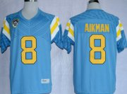 Wholesale Cheap UCLA Bruins #8 Troy Aikman Light Blue Jersey