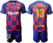Wholesale Cheap Barcelona #13 Cillessen Home Soccer Club Jersey